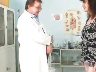 Unshaven pussy extreme Karla visits a doc