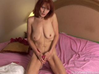 Skinny mature amateur redhead