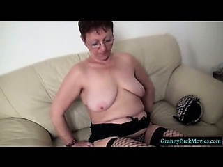 This Granny has really a big pussy