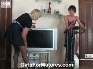 Emilia&Sheila mom in lesbian action