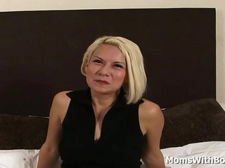 Spaniard MILF Katherine Fucks Two Young Cocks