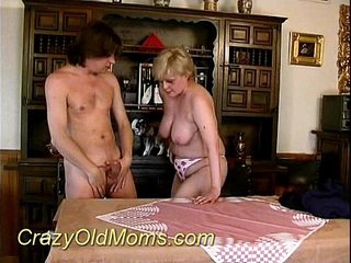 Crazy old mom sucking hard sex