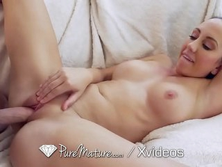 PUREMATURE Step Son Fucks MILF - His College Treat