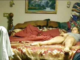 Orgasm of my mom masturbating caught by hidden cam