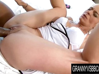 Granny Vs BBC - GILF Roxette Gets Licked and Dicked by Her Black Boyfriend