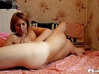 Since they were both horny, mom and son helped each other out with oral pleasures.