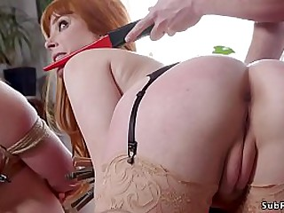 Nasty bf ties up busty girlfriend Penny Pax till her mom Chanel Preston comes back home and then in threesome her dominates them