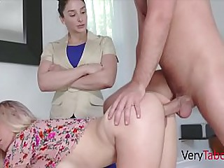 Sister Being Punished By Brother & Mom