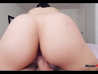 Busty Russian mom  punishes her son!